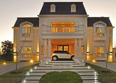 mansion mansion exterior A+R Arquitectos, MF House Villa Design, Classic House Exterior, Luxury Homes Dream Houses, Dream Homes, Bungalow House Design, Modern Mansion, House Goals, Luxury Apartments, Home Fashion