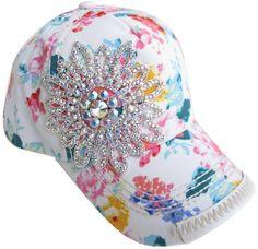 12d438f31f6 Watercolor Rhinestone Embellished Baseball Cap... GREAT summer cap...  Looking forward