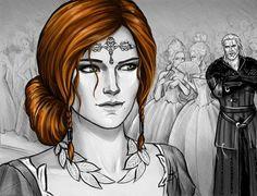 Triss Merigold and Geralt by NastyaKulakovskaya