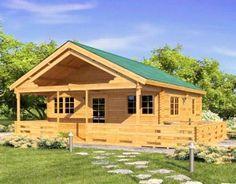 Casas de madera modelo Niza de macizo 45mm, adecuadas para alojamientos estivales, escapadas de fin de semana. Son fáciles de construir.