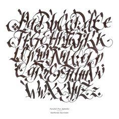 Parallel Pen Alphabet