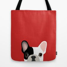 French Bulldog Tote Bag by Anne Was Here | Society6