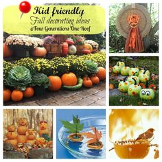 Kid friendly fall decorating ideas + decorating with pumpkins #fall #entertaining