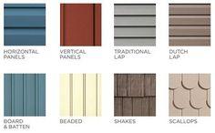 Exterior Siding Options, Exterior House Siding, Shingle Siding, Exterior House Colors, Vinyl House Siding, House Siding Options, Shake Siding, Stucco Homes, House Exteriors