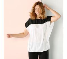 "Blúzka s potlačou ""colorblock"" Color Blocking, T Shirts For Women, Tees, Fashion, Tunic, Moda, T Shirts, Fashion Styles, Fashion Illustrations"