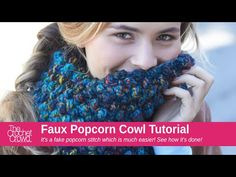 Learn how to crochet a Faux Popcorn Cowl. This really chunky cowl is super quick and easy to make. It's a faux popcorn meaning it looks like popcorn stitches...