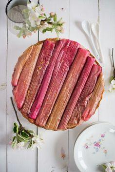 panna cotta and rhubarb tart