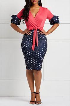 Office Lady Belt V-Neck Women's Bodycon Dress dress for teens formal dress Formal Dresses For Teens, Modest Dresses, Tight Dresses, Cute Dresses, Casual Dresses, Dresses For Work, Dress Formal, Party Dresses, Classy Dress