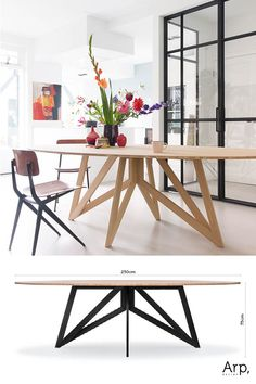 Dinning Table Design, Dinning Room Tables, Table And Chairs, Dinner Room, Oval Table, Mid Century House, Cozy House, Wood Table, Interior Inspiration