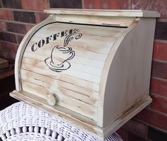 Coffee Center Upcycled Bread Box Keeper Box by AlteredRemix