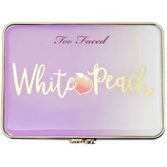 White Peach Eye Shadow Palette Peaches and Cream Collection Too Faced ($45) ❤ liked on Polyvore featuring beauty products, makeup, eye makeup, eyeshadow, palette eyeshadow and too faced cosmetics