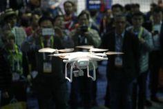 Imagen de un dron durante el CES International en Las Vegas.