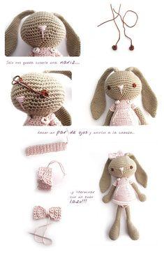 Mesmerizing Crochet an Amigurumi Rabbit Ideas. Lovely Crochet an Amigurumi Rabbit Ideas. Crochet Diy, Crochet Amigurumi Free Patterns, Crochet Crafts, Crochet Dolls, Crochet Projects, Knitted Doll Patterns, Crochet Ideas, Crochet Mignon, Confection Au Crochet