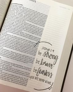 25 + Likes, 1 Comment – Bible Journaling! Bible Drawing, Bible Doodling, Bible Verses Quotes, Bible Scriptures, Joshua 1 9, Joshua Bible, Journaling, Bibel Journal, Bible Notes