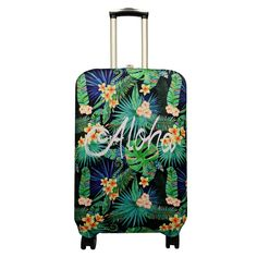 Pattern Tropical Leaves Canvas Art Travel Luggage Protector Case Suitcase Protector For Man/&Woman Fits 18-32 Inch Luggage