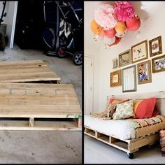 How to Make a Daybed from Pallets {trash to treasure ...