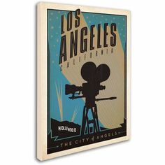 Trademark Fine Art Los Angeles Canvas Art by Anderson Design Group, Size: 18 x 24, Multicolor
