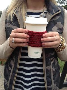 Crochet Coffee Coozie Coffee Sleeve Crochet by #threesheepshack $4