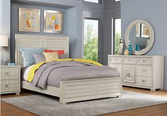 picture of Cindy Crawford Home Michigan Avenue Cream 5 Pc King Panel Bedroom  from King Bedroom Sets Furniture