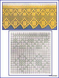 Miria крючком и картин: заперты из крючком с геометрическими фигурами