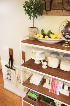 I love the farmhouse style, and have slowly been working it into my home decor. I had a metal IKEA shelf already, and decided to give it a little farmhouse makeover and put it to use in my kitchen!…