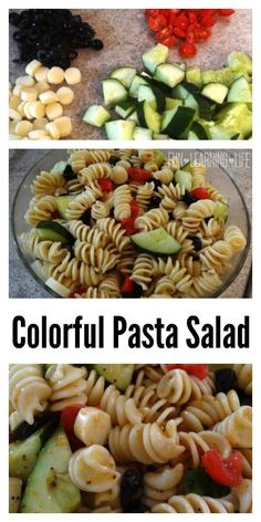 Colorful Pasta Salad for Holiday Entertaining!