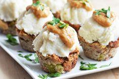 Vegan Stuffing Muffins with Cauliflower Mash