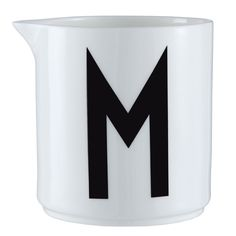 This M for Milk Porcelain Milk Jug by Design Letters is made from quality fine bone porcelain and features typography hand drawn in 1937 by the world renowned Danish Architect Arne Jacobsen. Danish Interior Design, Danish Design, Scandinavian Design, Design Shop, Design Studio, Lettering Design, Branding Design, Design Letters, Wooden Letters