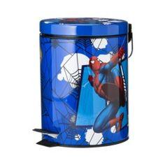 Spiderman Step Waste Basket - Blue Quick Information