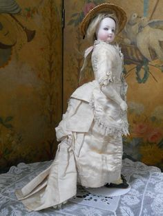 ~~~ An all Original French Bisque Poupee Attributed to Jumeau ~~~ from whendreamscometrue on Ruby Lane