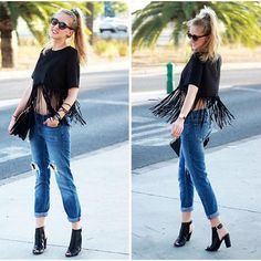I Clothing Top, Mango Jeans, I Clothing Boots Ripped Jeans, Jeans And Boots, My Outfit, Fashion Boots, High Heels, Street Style, Pants, Outfits