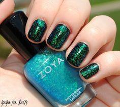 Zoya Maisie over Zoya Raven my nails 3