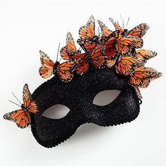 Butterfly Masquerade - black mask with butterflies Halloween Masquerade, Masquerade Ball, Halloween Masks, Masquerade Party Outfit, Mascarade Mask, Masquerade Dresses, Happy Halloween, Butterfly Halloween, Butterfly Mask