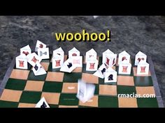 Learn How to Build a Free Paper Chess for Kids - YouTube  Make your own chess for kids at home with the Free Animals Chess printable used in this tutorial video. By Rodrigo Macias