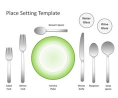 Free Place Setting Template for PowerPoint is an original slide design with place setting symbols that  sc 1 st  Pinterest & Etiquette | Dining Etiquette Seminars \u0026 Consulting - Place Settings ...