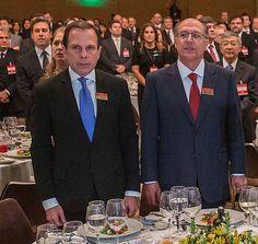 O apresentador João Dória Jr. participa de evento ao lado do governador de São Paulo, Geraldo Alckmin