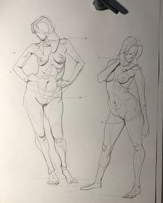 Today's figure drawing session from photo reference. #figuredrawing #quicksketch #anatomy #pencil #artistoninstagram
