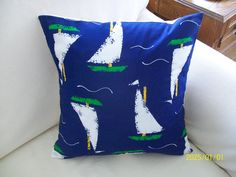 Sailing Blue Water by hmishke on Etsy, Nautical Pillow Covers, Nautical Pillows, Sailing, Throw Pillows, Trending Outfits, Unique Jewelry, Handmade Gifts, Water, Blue