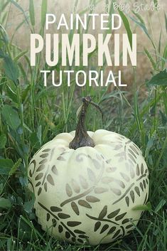 You can design and create a beautifully painted pumpkin to add to your fall decor. Click here for the step by step tutorial and video. #thecraftyblogstalker #paintedpumpkin #paintedpumpkins #pumpkin #falldecor #fallhomedecor Easy Diy Crafts, Creative Crafts, Diy Craft Projects, Fall Crafts, Halloween Crafts, Craft Ideas, Vintage Halloween, Fall Halloween, Halloween Ideas