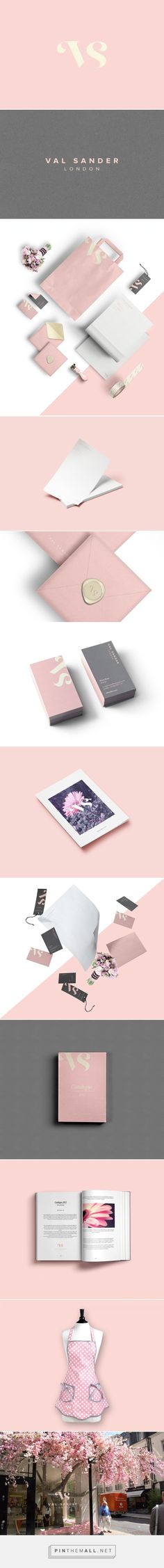 Love this color combination. Val Sander's flower shop on Behance