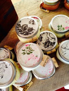 Gorgeous Jar Candles, hand made with essential oils and soya in Sussex! Beautiful gift for mothers day !   www.bloomingvillestore.co.uk