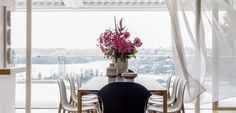 Amazingly beautiful dining room inside Martello Tower  House by Luigi Rosselli Architects