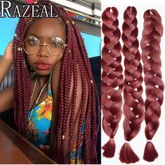 Careful 10pcs Razeal Ombre Gray Braiding Hair 24inch 100g Synthetic Jumbo Crochet Braids Hair Expression High Temperature Fiber Jumbo Braids Hair Braids