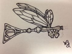 Tattoo Idea: Original by Bryan - Harry Potter Flying Key