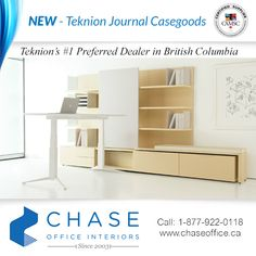 Journal's classic casegood elements include desks, credenzas and cabinets, freestanding and stackable storage, run-offs and returns. For more information please call us Toll Free on 1 877 922 0118