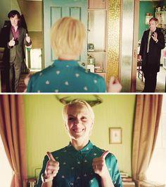 Oh, Mary… being able to play them both, John Watson and Sherlock Holmes Sherlock Bbc, Sherlock Fandom, Mary Watson, John Watson, Martin Freeman, Benedict Cumberbatch, Michael Jackson, Detective, Shinee