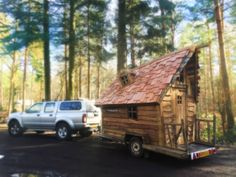 This trailing tiny home wouldn't be out of place in a fairy tale.  For more information, visit Custom Built in Surrey.
