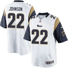 Nike Limited Trumaine Johnson White Men's Jersey - Los Angeles Rams #22 NFL Road
