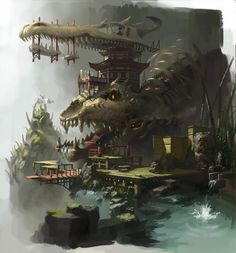 Environment Design, Concept Art by Jun Osone