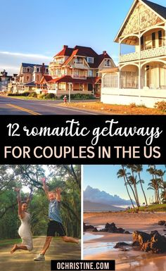 12 Romantic Getaways for Couples in the US. Are you searching for the most romantic getaways in the US? The United States is filled with amazing destinations for couples to visit! Whether you're looking for adorable small towns, foodie-filled cities, or stunning outdoor landscape views, this guide to 12 of the best couples vacations in the US will help you get started. Couple Getaways in the US | Couple Getaway Ideas | Couple Getaway Ideas Romantic Vacation |